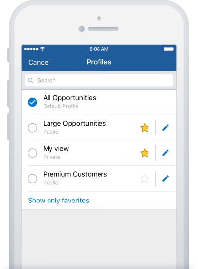 Profile View on CRM Mobile App - Pipeliner CRM