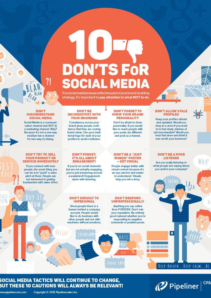 Ten Don'ts for Social Media: The Poster
