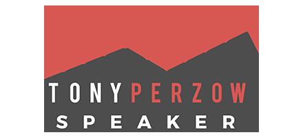Tony Perzow speaker logo