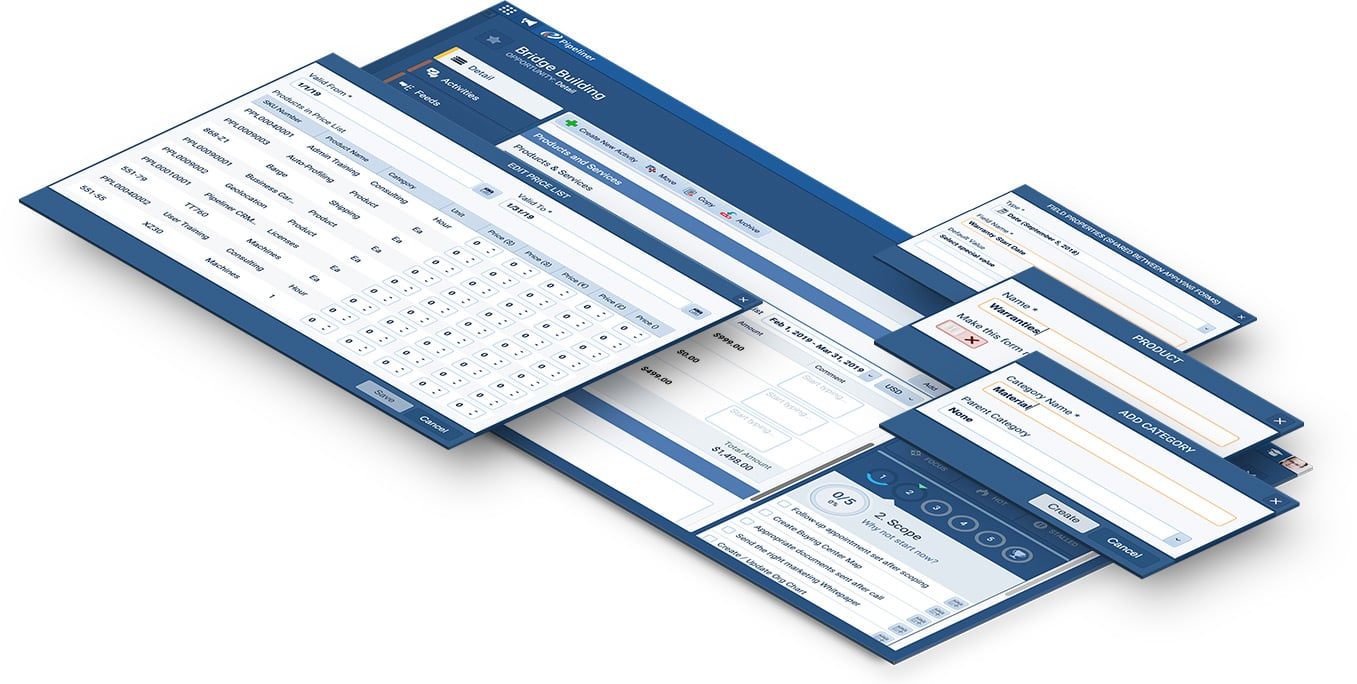 Custom Product forms and Services