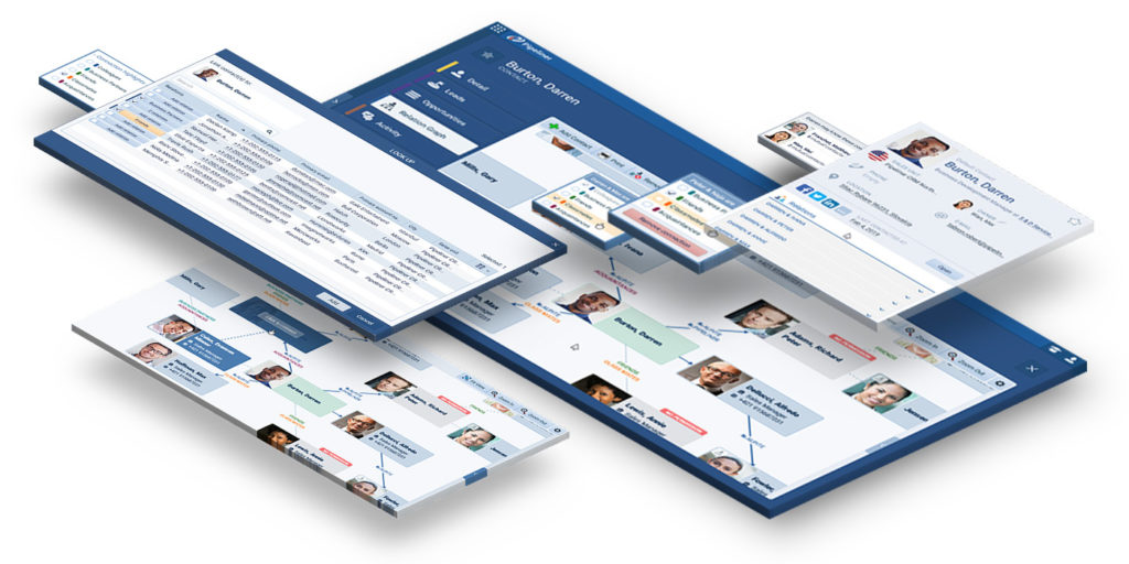 Pipeliner CRM contact relationship mapping feature