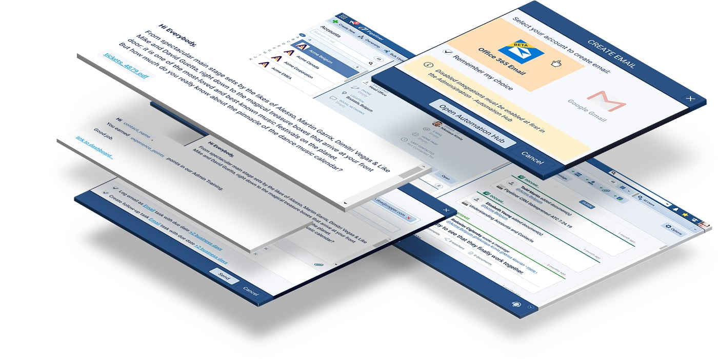 Office 365, sending emails from Pipeliner CRM