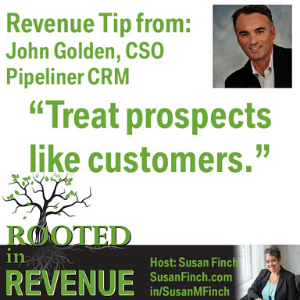Revenue tip from John Golden CSO Pipeliner CRM