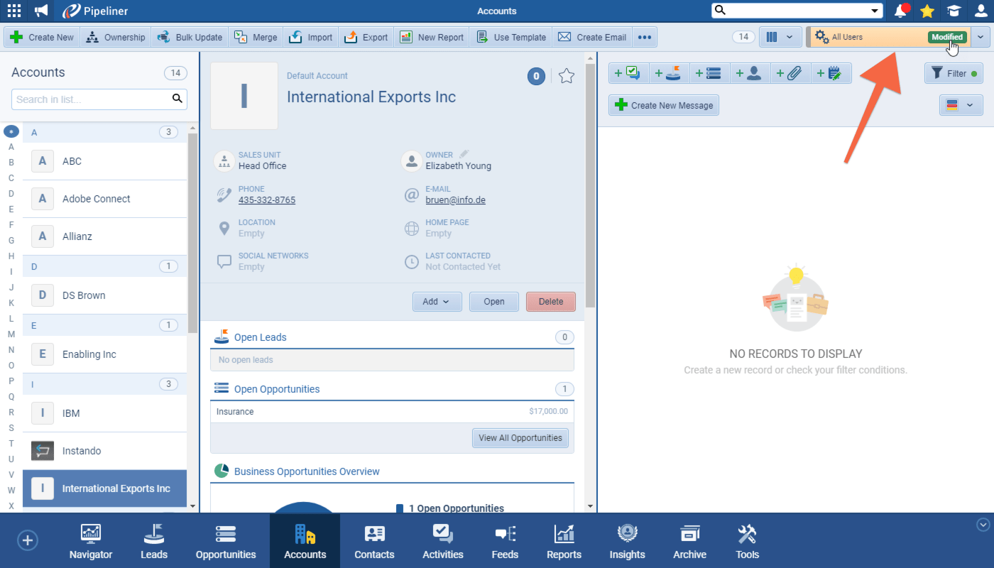 Pipeliner CRM improvement screenshot