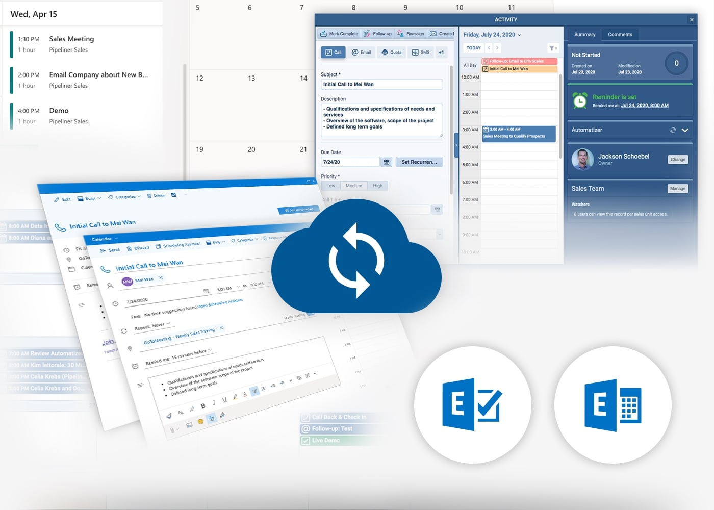 Microsoft 365 Package with Pipeliner CRM