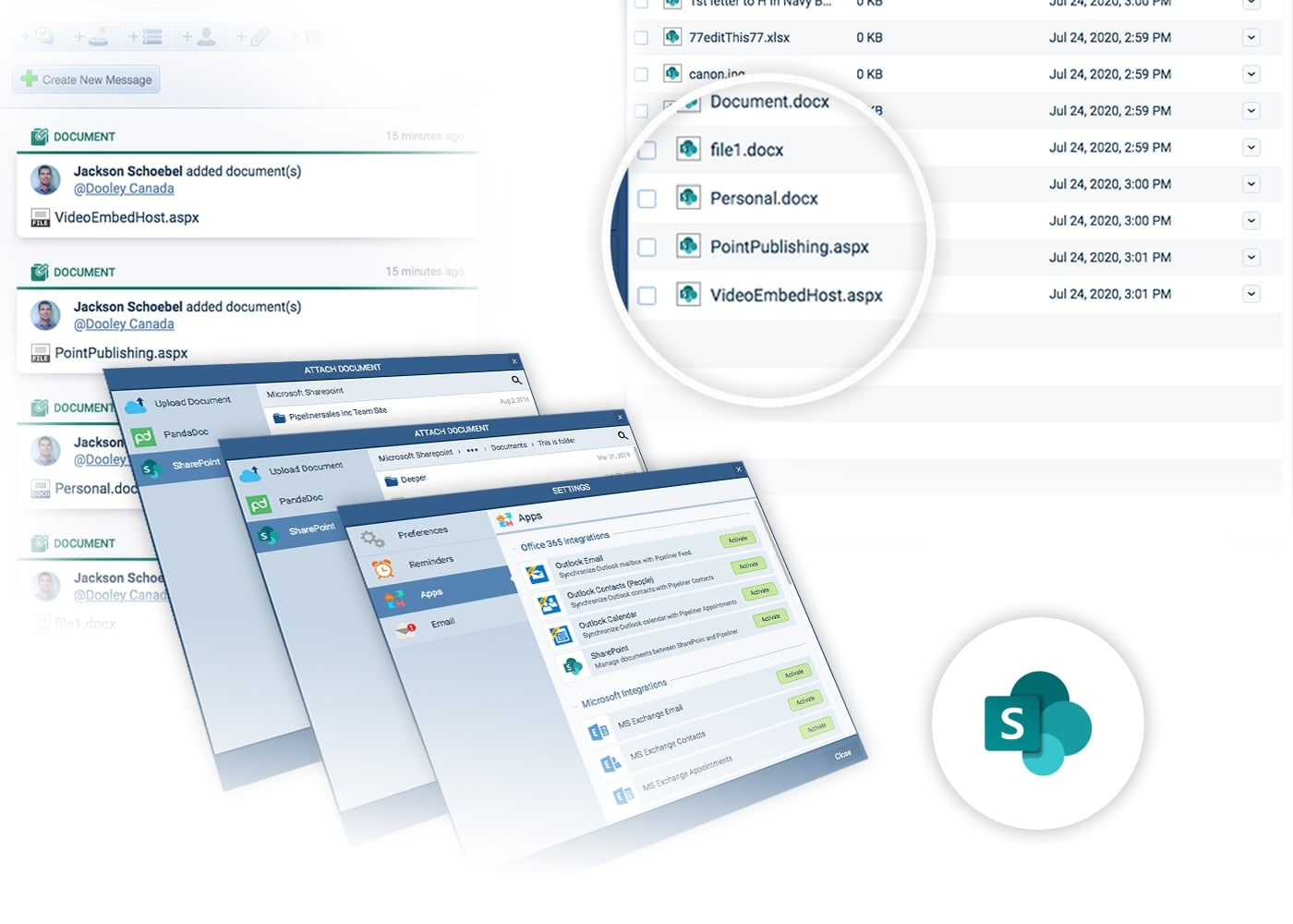 Microsoft 365 SharePoint with Pipeliner CRM