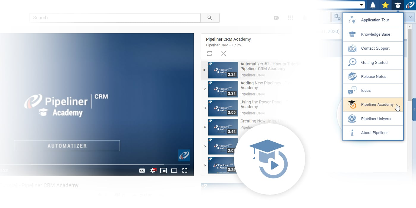Pipeliner CRM Academy - YouTube CRM training channel