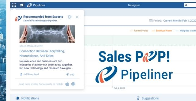 Sales POP! & Pipeliner Bring Realtime Thought Leadership To CRM Users