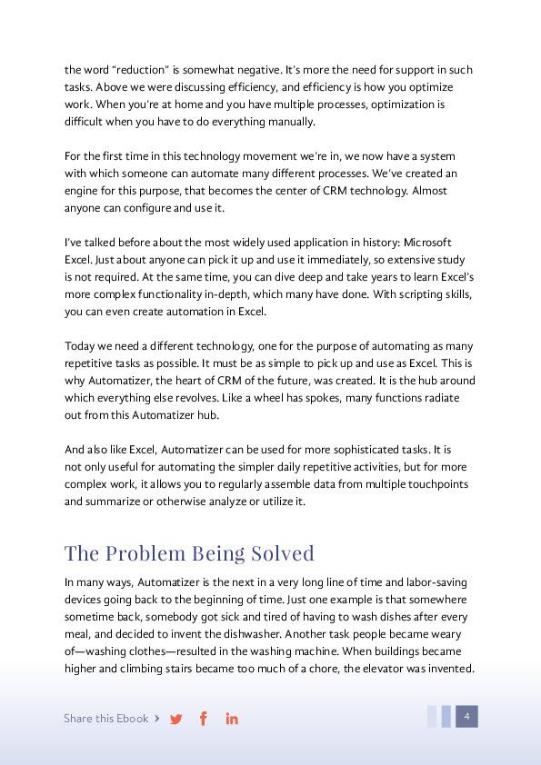 Automatizer Ebook page