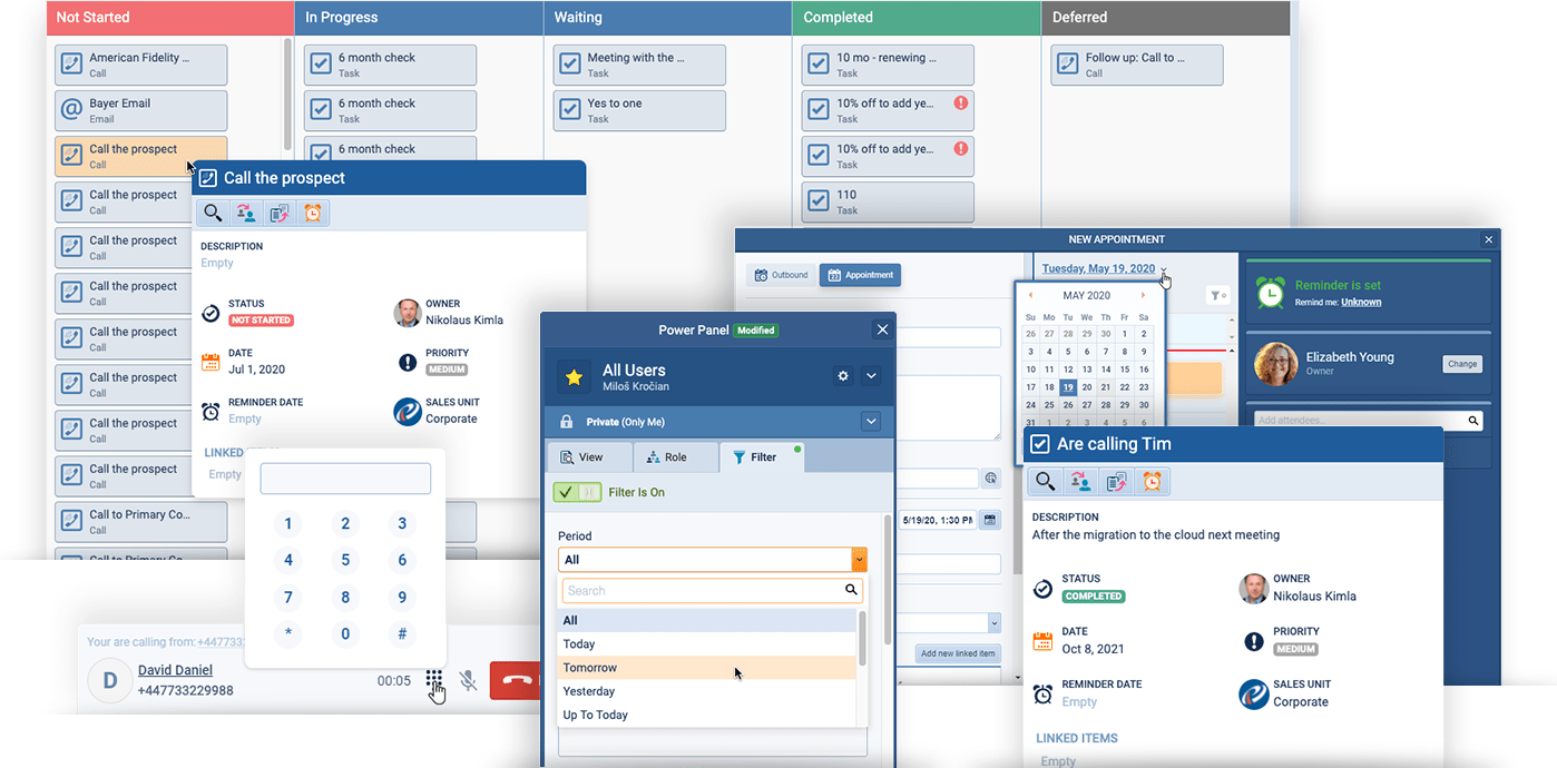 CRM activities and communication tools