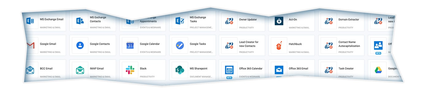 CRM system APIs for 3rd party integrations