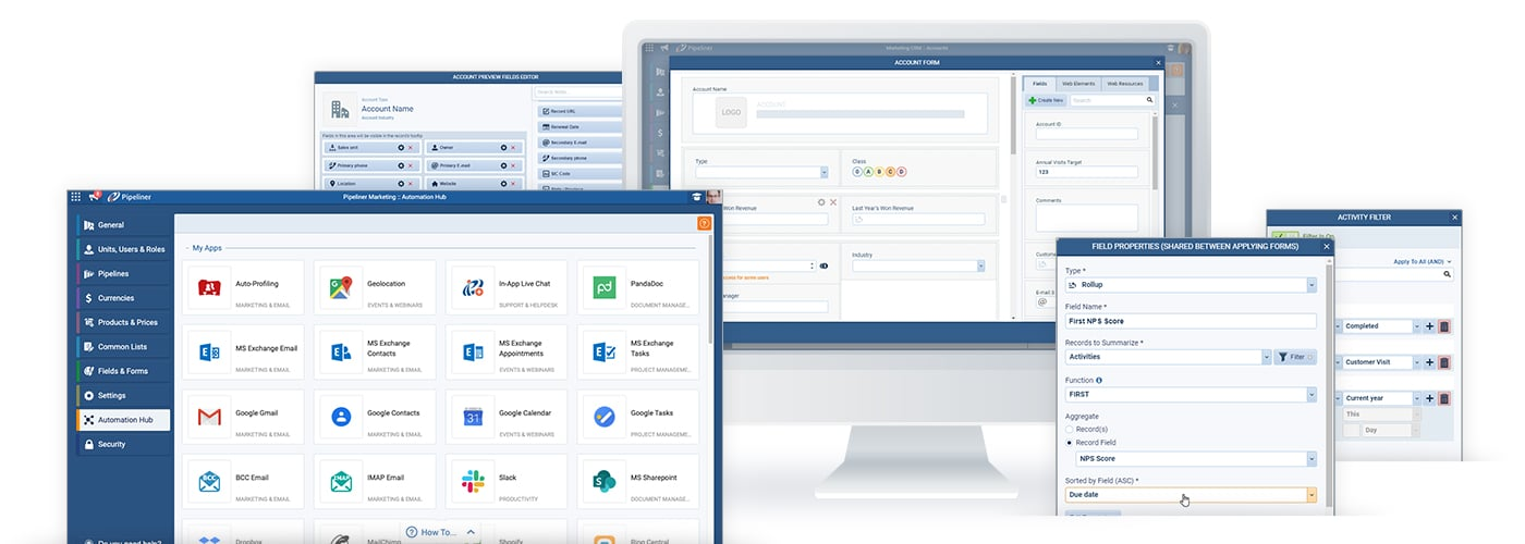 CRM backend administration, user-friendly and visual