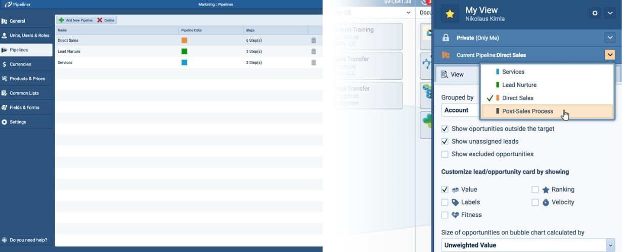 The Concept of Multiple Pipelines Within Pipeliner CRM